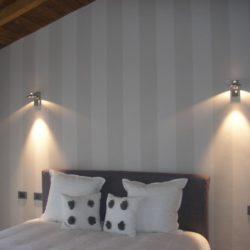Particolare di parete zona notte - Casa privata in Valtidone.