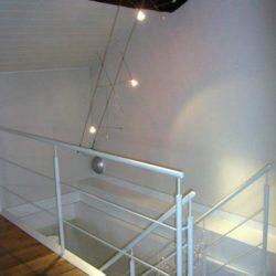 Sistema luci per vano scala - Casa privata a Pavia centro storico.