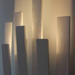 Sistema luci led Natevo Flou – Installazione nella mostra Design e Luce al Broletto di Pavia con Annalisa Ferraris.