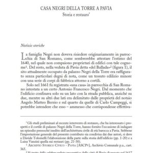 Bollettino della Società Pavese di Storia e Patria anno 2008 – saggio degli Architetti Tolomelli e Vanzini.