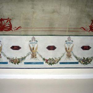 Piano nobile – particolare del soffitto decorato a Grottesche.