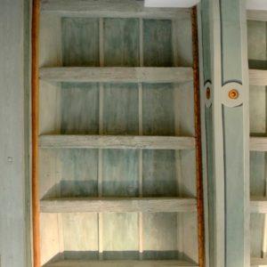 Piano terra – Particolare del soffitto ligneo restaurato.