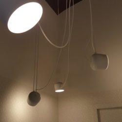 Sistema di luci a led Flos per arredo interno – Casa privata a Pavia centro storico.