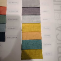Campionari di lino - Vibo Collection.