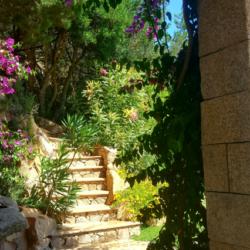 Scala in cotto e granito sardo San Giacomo - Sardegna.