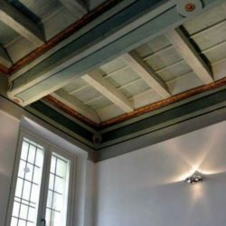 Piano terra - soffitto a cassettoni restaurato