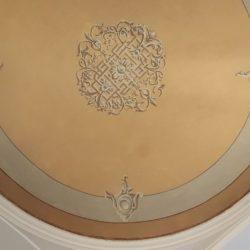 Casa privata via Cardano Pavia - dettaglio del soffitto restaurato.
