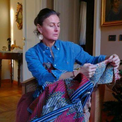 Luisa Vanzini con tessuto Wax